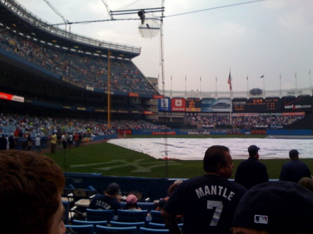 Our seats at the Yankee game!
